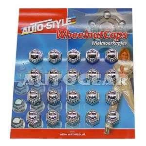 19Mm Wheel Nut Bolt Covers Caps Chrome Set Of 20 Plastic Automotive