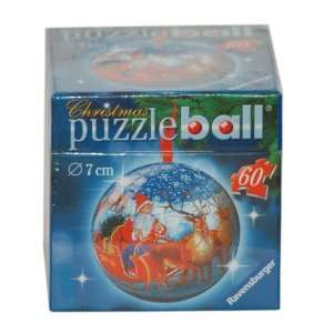 Puzzleball Christmas Ornament   Santa and Sleigh Toys
