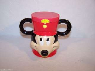 Disney Mickey Mouse Plastic mug cup flip top lid