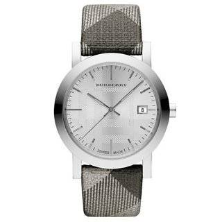 Burberry Swiss Made Check Fabric Strap Watch for Men