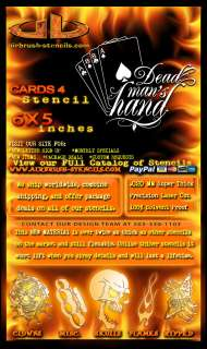 Cards 4 airbrush stencil template harley paint