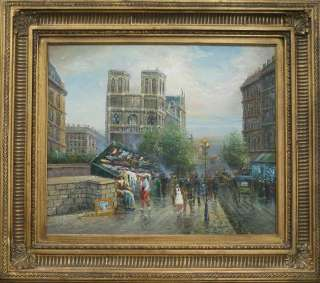 Impressionist KNIFE Oil PAINTING PARIS Street SCENE FRAMED
