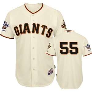 Tim Lincecum Home Jersey San Francisco Giants World Series 2010 Fall