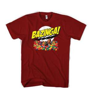 Bazinga Sheldon Cooper Big Bang Theory TV show t shirt
