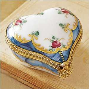 Heart Limoges Box Floral