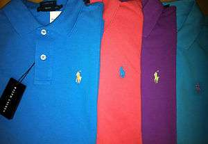 Polo Ralph Lauren Womens Polo Shirts BLUE PURPLE PINK XS, S, M, L, XL