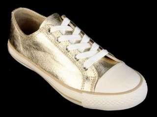 BURBERRY LADIES SIGNATURE GOLD LEATHER FASHION SNEAKERS 37/6.5