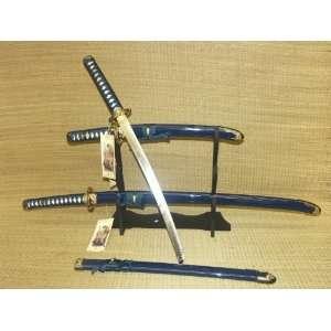 Japanese Bushido Dragon Last Samurai Sword Set (Blue