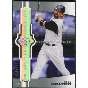 Deck Ultimate Collection #14 Todd Helton /450 Sports Collectibles