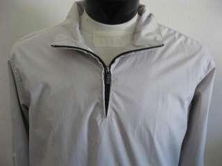 MENS Izod Golf XFG Khaki Zippered Windbreaker Jacket L