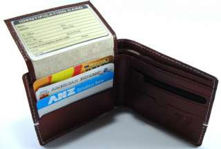 Genuine Just Leather Designer Mens Wallet Card Holder SP065BR