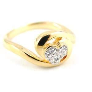 Gold plated ring Love 2 tone.   Taille 52 Jewelry
