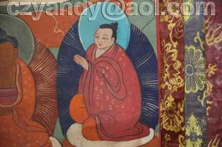 Name Wonderful Old Tibetan Buddhist Hand Painted Thangka Milarepa