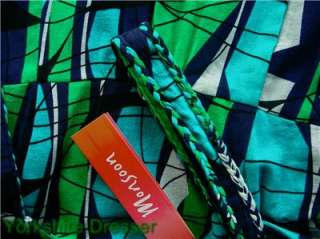New MONSOON Green Blue Cotton TANGA MAXI DRESS  Uk 10