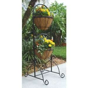 Leaf 2 Piece Patio Basket Planter   923 (Qty 3) Patio, Lawn & Garden