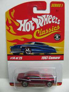 Hot Wheels Classics 1967 Camaro 7 / 5 Wheel Variation