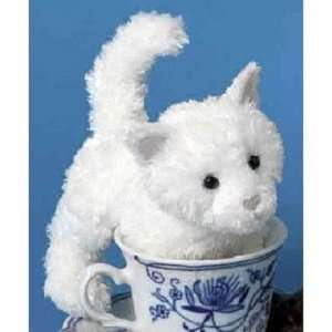 White Flannel White Cat 6 by Douglas Cuddle Toys Toys & Games