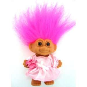 My Lucky Flower Girl 4 MINI Troll Doll Toys & Games