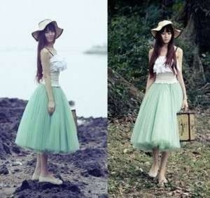 Love Princess Chiffon Five layer Gauze Big Swing Skirt
