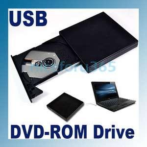 New USB 2.0 External Optical DVD ROM Drive For Laptop PC Portable Slim