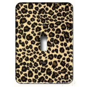 Leopard Print Jungle Single Toggle Light Switch Plate