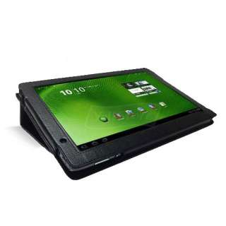 Leather Stand Cover Case for Acer Iconia Tab A500 A501 Black