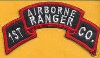 KOREAN War 1st Airborne Ranger Co Inf scroll tab patch