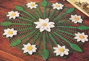 Vintage Crochet Daisy Web Flower Doily Mat PATTERN