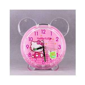 Shaped Hello Kitty Crystal Music Alarm Clock Pink