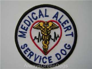 Embroderied Service Dog Patches / Badges