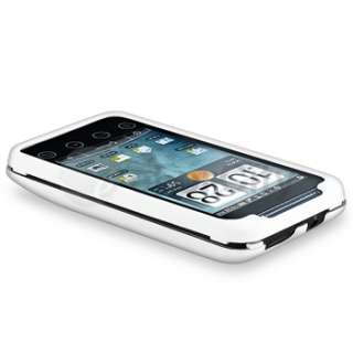 Hard Rubber Case Cover+2x Screen Protector For Sprint HTC EVO Shift 4G