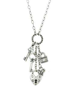 Charming Life Sterling Silver Key to My Heart Charm Necklace