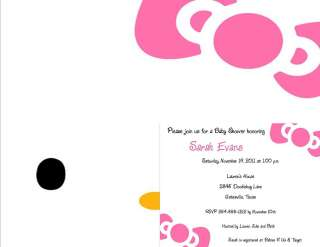 24 Hello Kitty Baby Shower Invitations 2 sided
