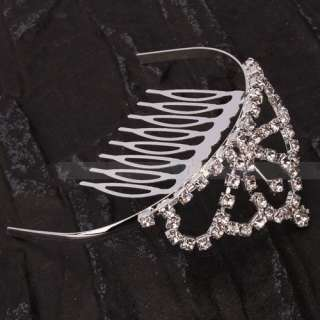 Charming Wedding Bridal Jewelry Rhinestone Tiaras Crown Hair Comb Pin