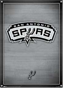 national basketball association san antonio spurs logo poster
