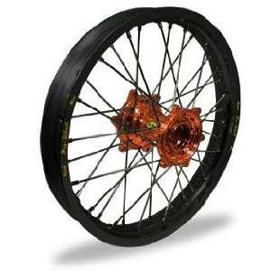Pro Wheel MX Wheel Set   19x1.85   Black Rim/Orange Hub 24