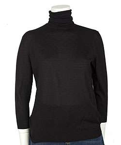 Fendi Black Cashmere Turtleneck Sweater