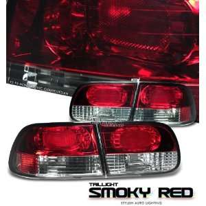 92 93 94 95 HONDA CIVIC DX LX EX 2/4 DOOR SMOKY RED/CLEAR TAIL LIGHTS