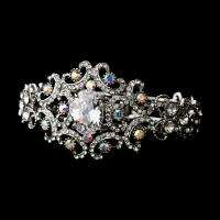 Crystal Bridal Bangle Bracelet Cuff jewelry jewellery prom B1327s