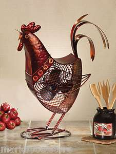 NEW DECORATIVE ROOSTER FIGURINE TABLE FAN DECO BREEZE