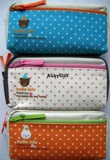 Lovely Bunny / Bear Beauty Cosmetic / MakeUp Bag / Pencil Pen Case
