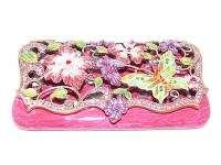 Swarovski Crystal Pink Butterfly Business Card Holder