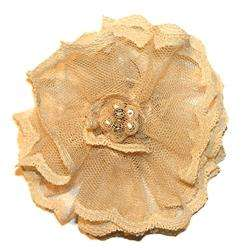 Cuff Luv Womens Ivory Lace Flower Magnetic Brooch