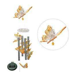 Solar powered Color changing Butterfly Wind Chime