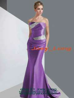 Silver Elegant Formal Gown Pageant/Evening/Prom/Ball/Party Women Dress