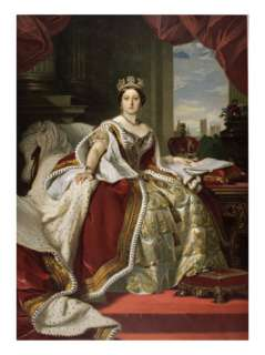 Queen Victoria of England in Her Coronation Robes Giclee Print by