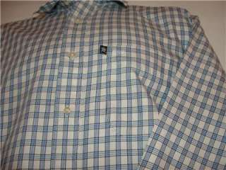 Tommy Hilfiger blue check long sleeve sport shirt sz M