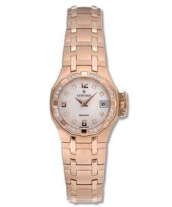 Concord Saratoga Womens 18k Pink Gold Watch