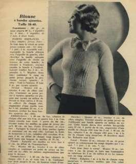 ORIGINAL TRICOT MAGAZINE Nov 1st,1937  knitting/crochet