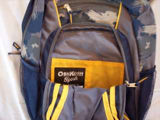 NWT Boys OshKosh Osh Kosh blue school backpack NEW